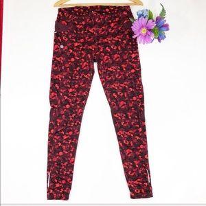 ATHLETA Red Triangular Be Free Legging Pants S